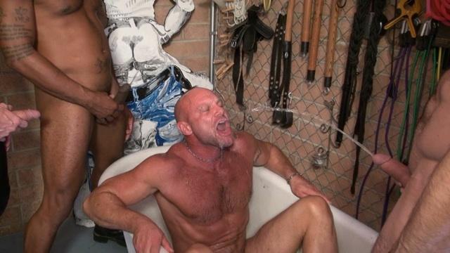 Piss pig Chad Brock drinking a warm load down