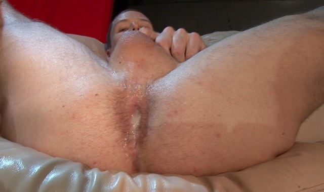 A hot load dripping from Seth's fresh fucked hole