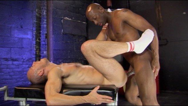 Jayson park on his back takes Champ Robinson's massive raw dick