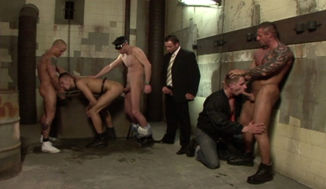 Raw group fuck in a dirty basement