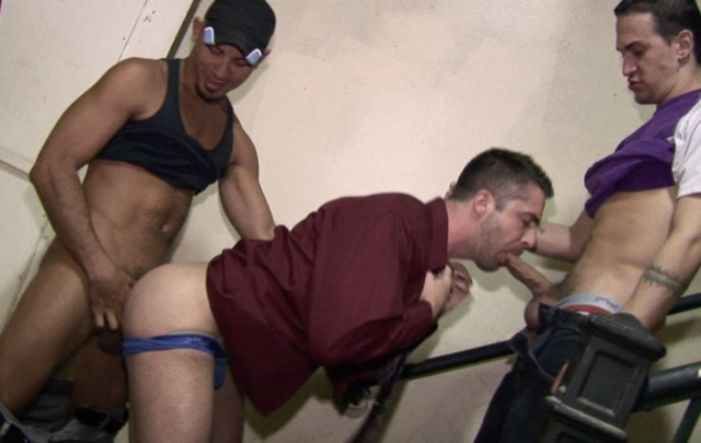 Brandon Hawk getting his ass fucked while sucking dick