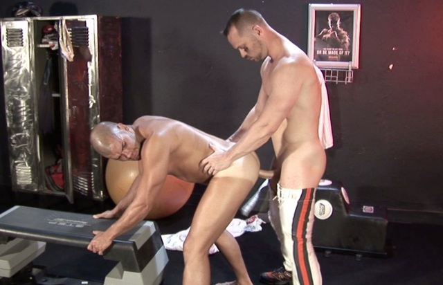 Beefy Diego Catalan getting his ass fucked raw by Owen Hawk