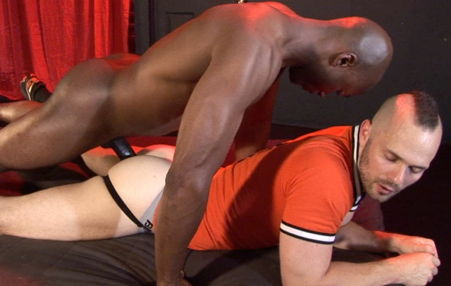 RJ slides his big black cock into Owen's jock strapped ass