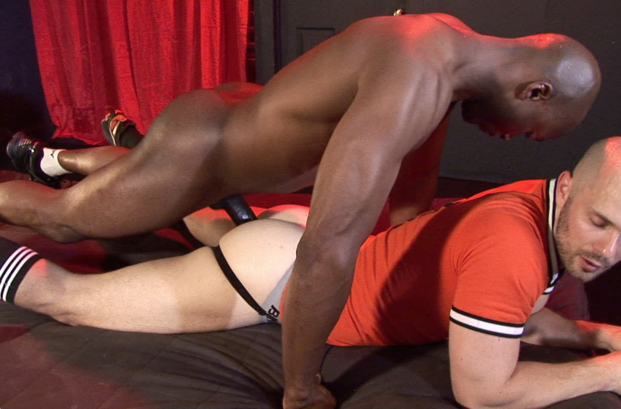 RJ slides his big black cock into Owen\'s jock strapped ass
