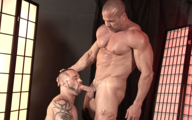 Marco Cruise sucking Jim Ferro's big cock