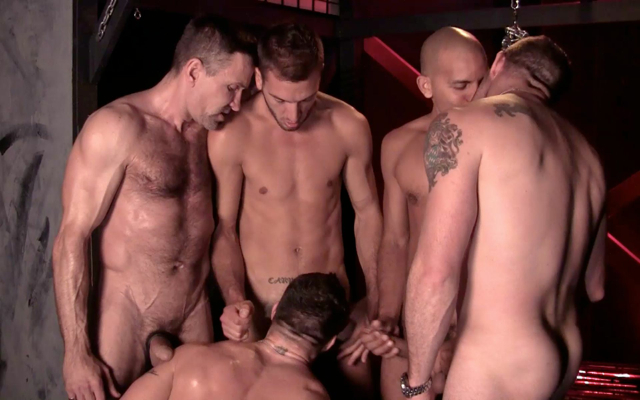 Drew Sumrock sucking off a group of guys