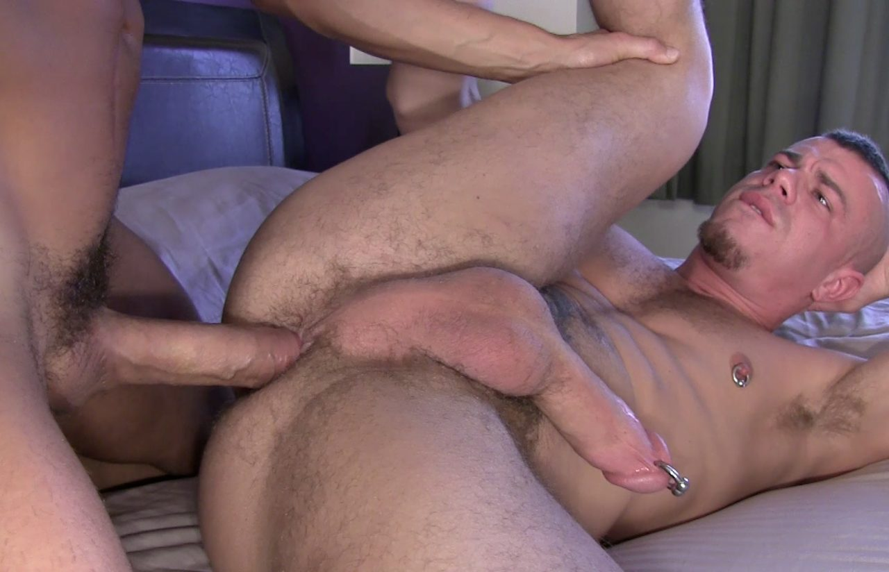 Pierced punk Jesse Santana getting fucked by a big raw cock