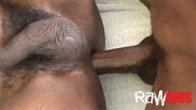 Raw cock fucking black ass