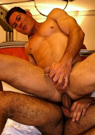 Beefy Latin stud takes raw cock in his tight ass