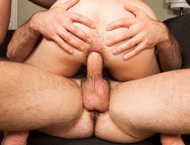 Ass spread for raw cock