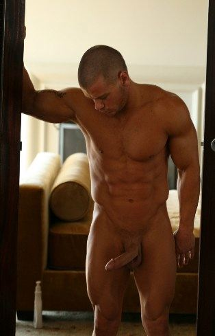 Ripped body builder with thick hard cock
