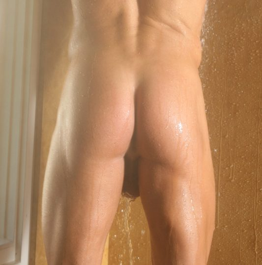 Smooth muscle ass in shower