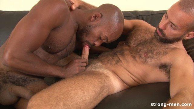 man sucking black dick