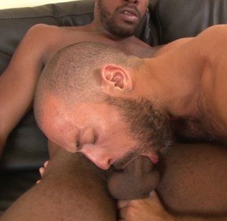 Gay men deep throat