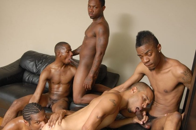 Young Black thugs sucking cock and eating ass
