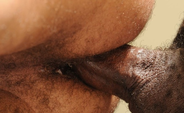 Hairy young ass filled with raw Black cock