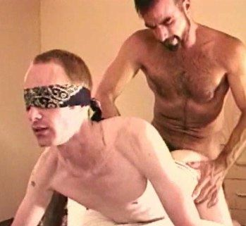 Young guy in blindfolded taking raw dick