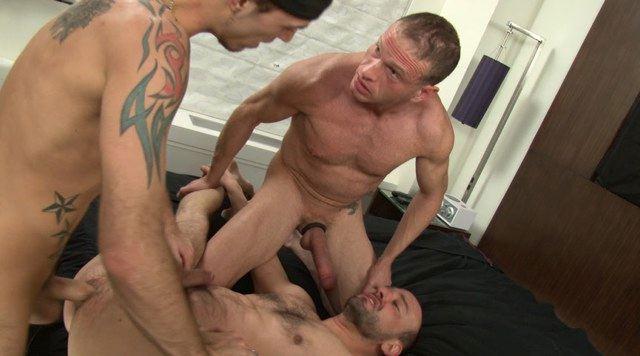 Jayden fucked raw by Jessy Karson while Kurt Wood watches