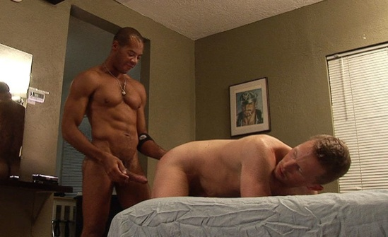 Young guy bends over ready to get fucked bareback