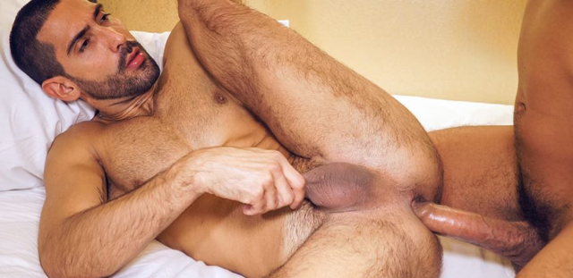 Alejandro Dumas giving up his hole to a big dicked top to fuck raw