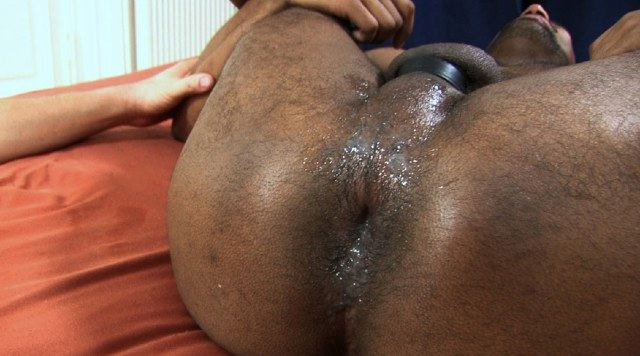 Frederik's tight hole dripping Roman's cum