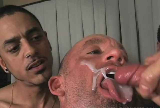 Mark Dixon eats a thick load while getting fucked