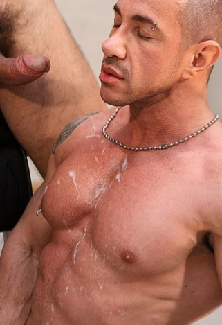 Marius ripped body dripping with cum