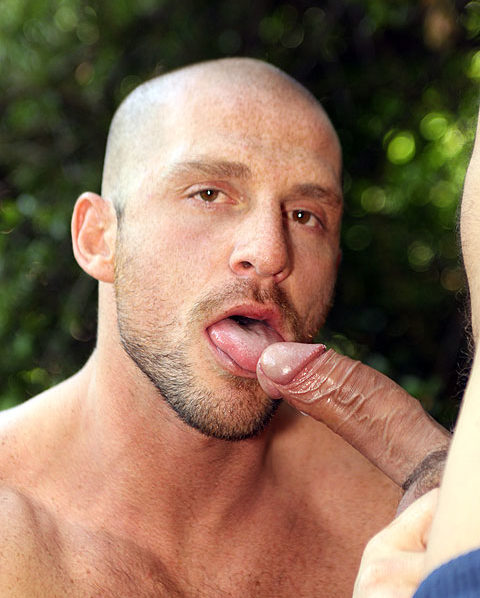 Aitor licks the head of Toby Parks cock