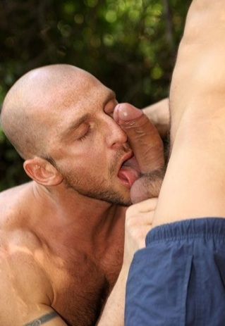 Aitor licks toby's big fat nutts