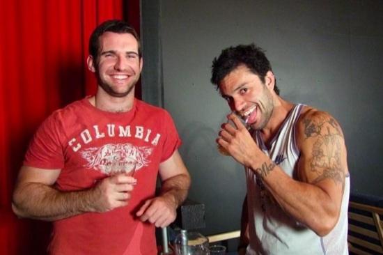 Hot young Josh Harris and Rogan drinking beer