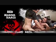 Red Spreads Marcus Ass Wide With 10 Inches Of Raw Uncut Dick