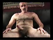 Hairy Daddy Bear Tim Jerks Off
