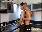 Hot Jock Fills Hot Twink On The Kitchen