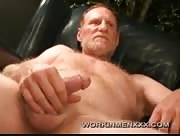 Handsome Daddy Red Dawg Jacking Off