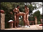 Oscar, Julian, And Andy Outdoor Threeway